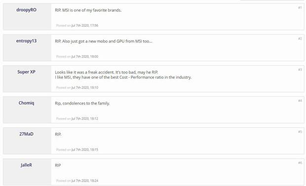 Nóng: Chủ tịch kiêm CEO hãng phần cứng MSI bất ngờ tử vong vì tai nạn, game thủ thế giới đồng loạt bày tỏ sự tiếc nuối - Ảnh 3.