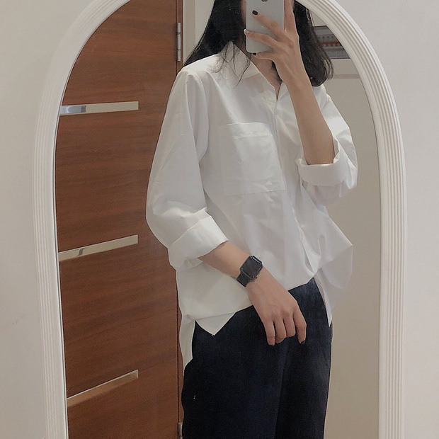 Hà Tăng mặc sơ mi trắng đơn giản mà cực sang, và cái hay là bạn chỉ cần bỏ ra từ 280k để sắm chiếc tương tự - Ảnh 7.