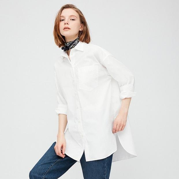 Hà Tăng mặc sơ mi trắng đơn giản mà cực sang, và cái hay là bạn chỉ cần bỏ ra từ 280k để sắm chiếc tương tự - Ảnh 4.