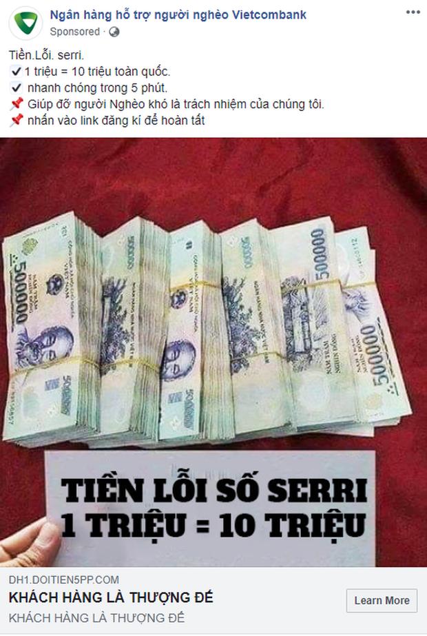 Xuất hiện fanpage nhận đổi 1 triệu lấy 10 triệu, chạy quảng cáo rầm rộ trên Facebook: Cẩn thận tiền mất tật mang! - Ảnh 1.