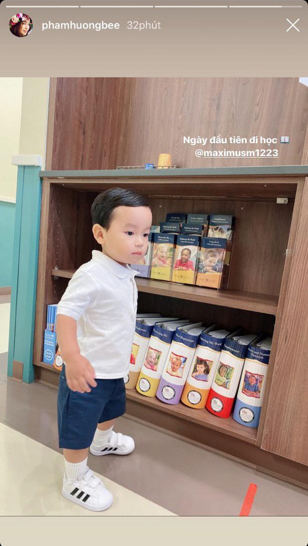 Con trai Phạm Hương lên đồ chỉn chu trong ngày đầu đi học: Nhìn qua là biết mẹ chăm khéo lắm đây này! - Ảnh 3.