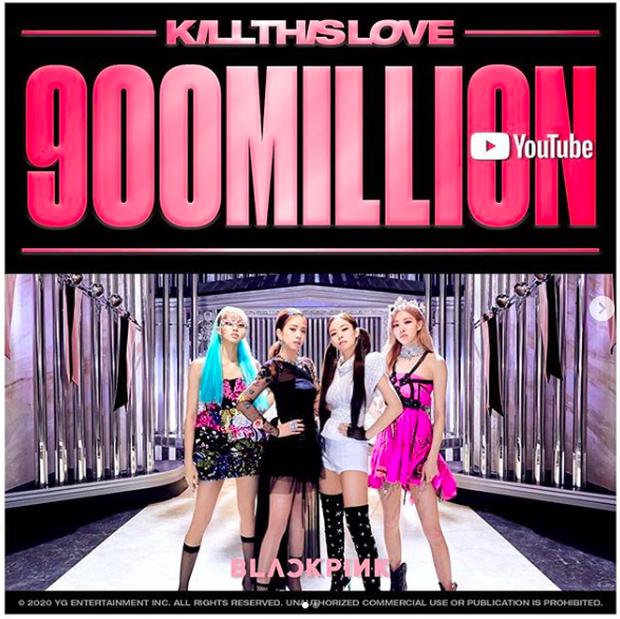 Đang stream How You Like That thì được tặng poster ăn mừng Kill This Love đạt 900 triệu view, chả mấy chốc BLACKPINK có MV tỷ view thứ 2! - Ảnh 2.