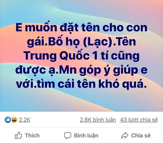 Dân mạng nhiệt tình giúp mẹ trẻ đặt tên cho con gái họ Lạc, tuy có hơi sai sai nhưng đúng là độc đáo miễn bàn - Ảnh 1.