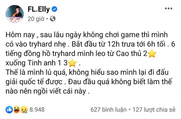 Dự giải quốc tế vẫn chỉ trình Tinh Anh, Elly chứng minh đánh rank Liên Quân Việt khắc nghiệt đến mức nào! - Ảnh 1.