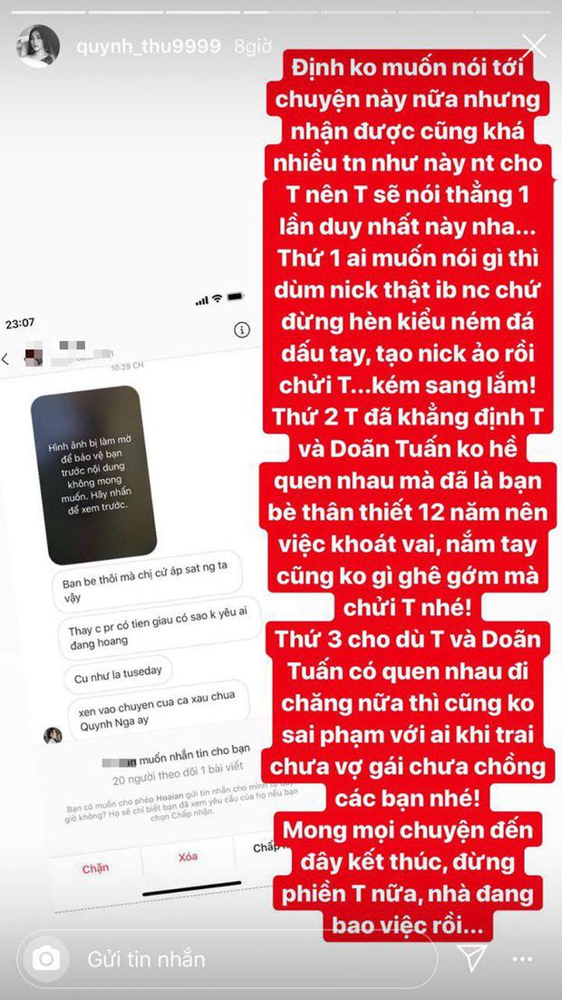 Bị gọi là Tuesday xen giữa Quỳnh Nga và Doãn Tuấn khi lộ ảnh hẹn hò, Quỳnh Thư đáp trả cực căng - Ảnh 2.