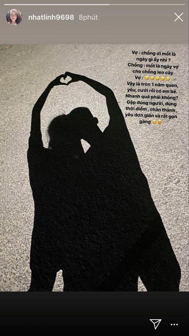 Nhật Linh kể về chuyện tình nhanh gọn với Văn Đức: Từ quen, yêu, cưới rồi có em bé chỉ trong đúng 1 năm - Ảnh 1.