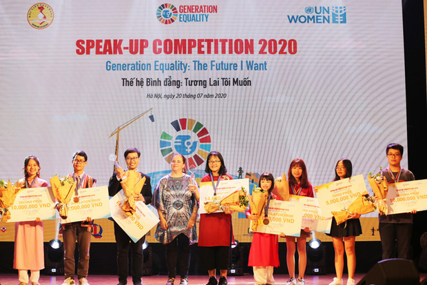 Sinh viên Học viện Ngân hàng tổ chức thành công cuộc thi diễn thuyết về Bình đẳng giới - Ảnh 5.