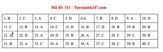 Đáp án đề thi môn Lịch sử tốt nghiệp THPT Quốc gia 2020 (24 mã đề) - Ảnh 4.