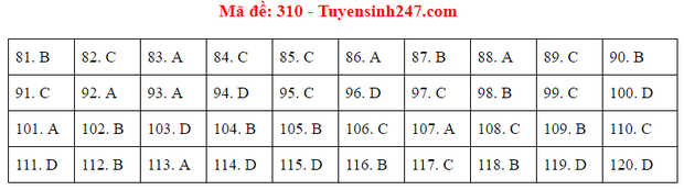 Đáp án đề thi tốt nghiệp THPT 2020 môn GDCD (24 mã đề) - Ảnh 10.
