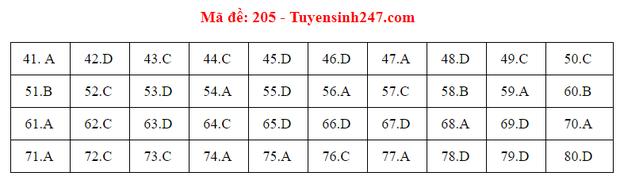 Đáp án đề thi môn Hóa tốt nghiệp THPT Quốc gia 2020 (24 mã đề) - Ảnh 4.