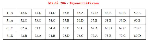 Đáp án đề thi môn Hóa tốt nghiệp THPT Quốc gia 2020 (24 mã đề) - Ảnh 5.