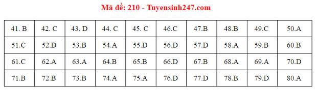 Đáp án đề thi môn Hóa tốt nghiệp THPT Quốc gia 2020 (24 mã đề) - Ảnh 8.