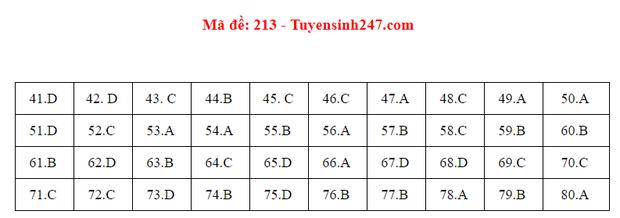 Đáp án đề thi môn Hóa tốt nghiệp THPT Quốc gia 2020 (24 mã đề) - Ảnh 9.