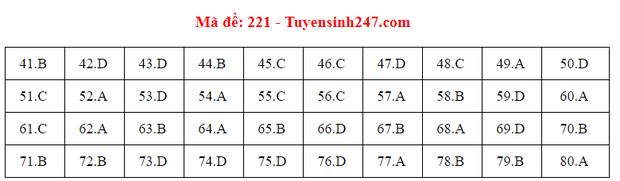 Đáp án đề thi môn Hóa tốt nghiệp THPT Quốc gia 2020 (24 mã đề) - Ảnh 12.