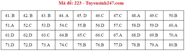 Đáp án đề thi môn Hóa tốt nghiệp THPT Quốc gia 2020 (24 mã đề) - Ảnh 14.