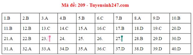 Đáp án đề thi tốt nghiệp THPT Quốc gia 2020 môn Vật lý (24 mã đề) - Ảnh 7.