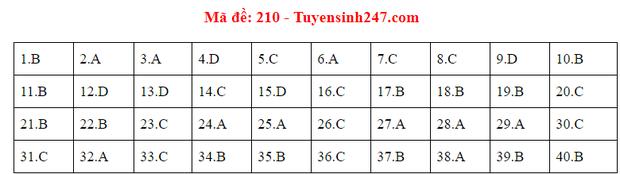 Đáp án đề thi tốt nghiệp THPT Quốc gia 2020 môn Vật lý (24 mã đề) - Ảnh 6.