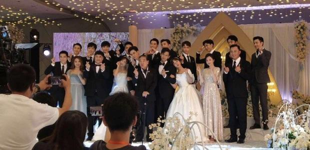 Rần rần hình ảnh Dương Tử mặc váy cưới, cùng Lý Hiện tổ chức hôn lễ với dàn sao Cá Mực Hầm Mật - Ảnh 2.