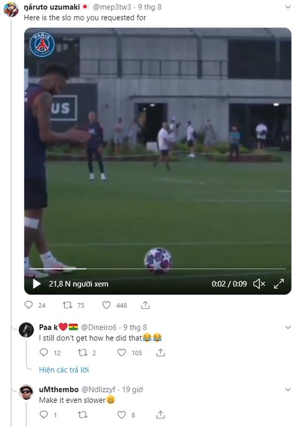 Hơn 4 triệu lượt xem Neymar và cựu cầu thủ MU cùng nhau tạo siêu phẩm trên sân tập trước thềm tứ kết Champions League - Ảnh 2.