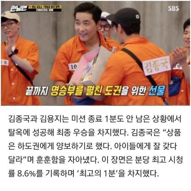 Kim Jong Kook giữ lời hứa tặng quà cho khách mời khiến Running Man thoát khỏi cảnh rating lẹt đẹt - Ảnh 1.