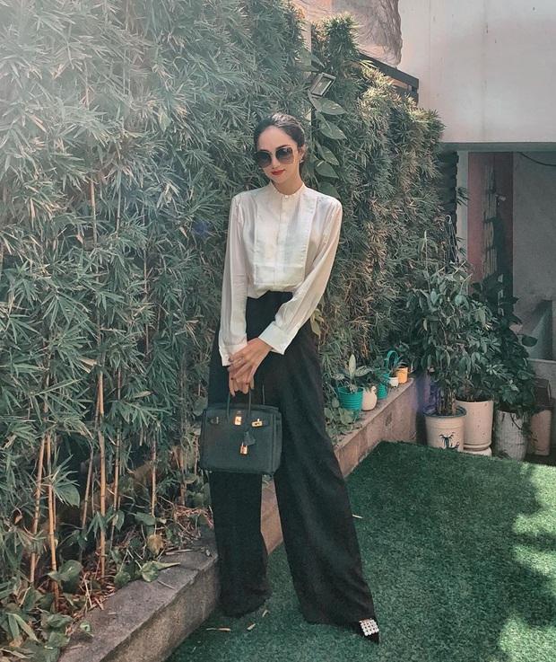 Hương Giang có 2 combo quần + giày dép hack dáng bất bại, nàng nào diện lên chân cũng dài tới nách - Ảnh 2.