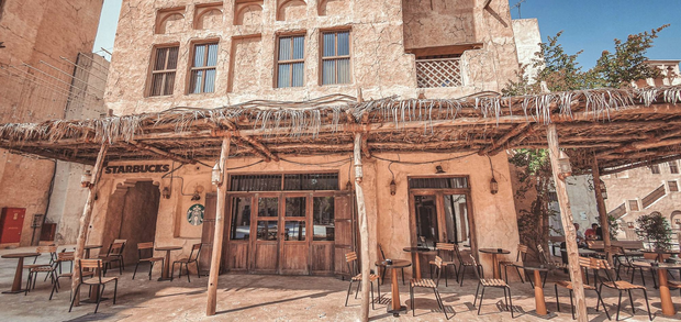 Cửa hàng Starbucks ở Dubai gây bão vì thiết kế mái lá vô cùng đặc biệt - Ảnh 1.