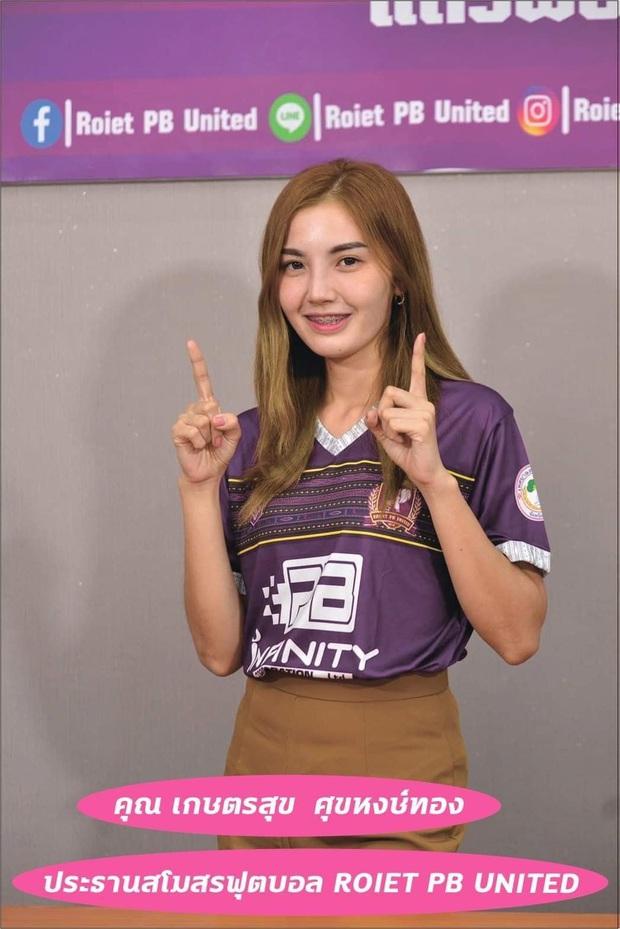 Nữ chủ tịch mới của bóng đá Thái Lan: Xinh đẹp, nóng bỏng và kiếm tiền siêu đỉnh - Ảnh 1.