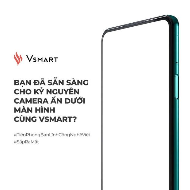 Vsmart hé lộ smartphone với camera ẩn dưới màn hình - Ảnh 1.