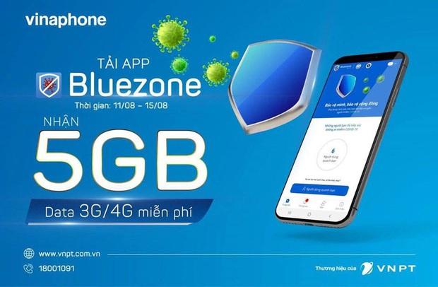 Khuyến khích tải ứng dụng Bluezone, nhà mạng đồng loạt tặng 5GB data, miễn phí 100% cước truy cập - Ảnh 1.