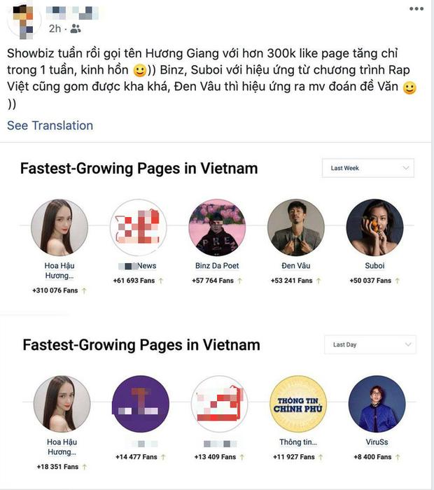 Hương Giang trở thành sao hot nhất Vbiz tuần qua trên Facebook, qua mặt cả Binz - Suboi nhờ chuyện tình với Matt Liu - Ảnh 2.