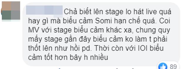 Somi cứ lên sân khấu là trợn mắt, liếc xéo làm cư dân mạng ngán ngẩm, chê bai biểu cảm nghèo nàn dù đã debut solo hơn 1 năm - Ảnh 7.