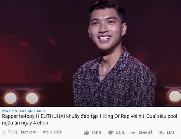 Bất ngờ chưa? Tiết mục của HIEUTHUHAI còn có lượt view cao hơn tập 1 King of Rap! - Ảnh 5.