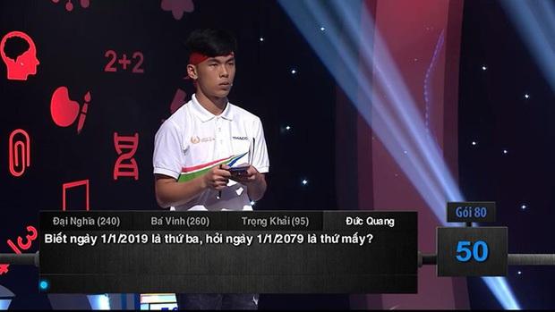 Loạt câu hỏi gây lú của Olympia nhưng đáp án dễ bất ngờ: 1/1/2019 là thứ ba, hỏi ngày 1/1/2079 là thứ mấy? - Ảnh 2.