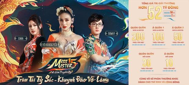 VNG chơi lớn, tổ chức cuộc thi Miss & Mister Võ Lâm Truyền Kỳ với giải thưởng 52 tỷ, cặp đôi Cara - Noway và Võ Hoàng Yến làm đại sứ - Ảnh 1.