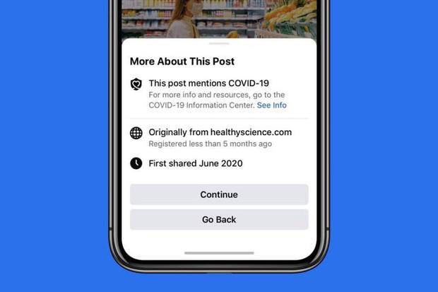 Nhọc nhằn nạn fake news Covid-19: Facebook sẽ cảnh báo khi share bất kỳ tin tức nào về dịch bệnh - Ảnh 1.