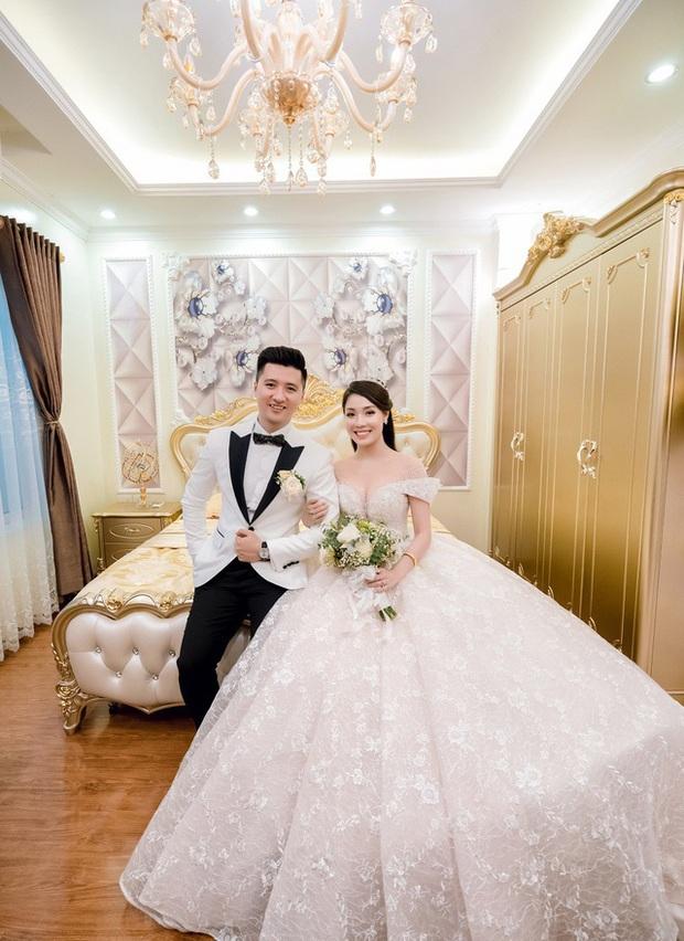 Trước khi bị phụ bạc, Âu Hà My từng hóa công chúa trong đám cưới cổ tích với 3 bộ váy cưới đính kim cương giá 1 tỉ đồng - Ảnh 3.