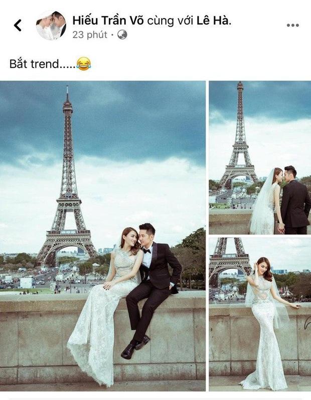Ông xã Lê Hà khoe ảnh cưới tại Paris bắt trend cực nhanh, nghe nói đúng kiểu ngôn tình chị em đang mê? - Ảnh 2.