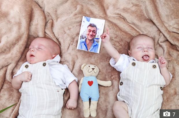 Giữ lời hứa sẽ sinh con cho người chồng đã mất từ 3 năm trước vì ung thư, cô vợ hạ sinh 2 bé trai kháu khỉnh khiến ai cũng ngỡ ngàng - Ảnh 1.