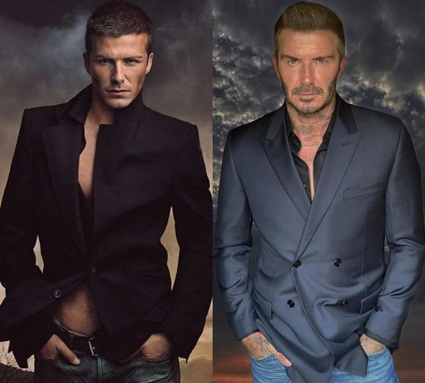 David Beckham đăng bức hình so sánh diện mạo sau 15 năm, đỉnh cao là thế nhưng ai ngờ lại bị bà xã Victoria cà khịa cực mạnh - Ảnh 1.