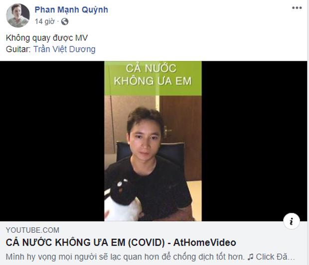 Phan Mạnh Quỳnh đàn hát tại nhà bài mới Cả Nước Không Ưa Em, mô tả Covid-19 như một cô gái siêu khó ưa, đi đâu cũng bị ghét - Ảnh 2.