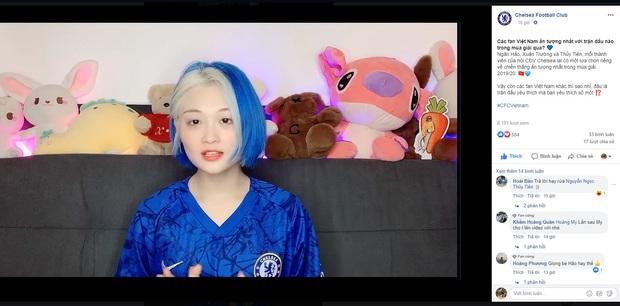 Nữ streamer xinh đẹp, sexy Hảo Thỏ bất ngờ xuất hiện trên fanpage chính thức của CLB Chelsea - Ảnh 1.
