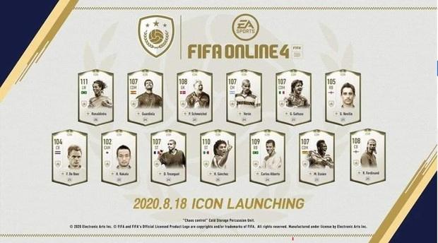 FIFA Online 4: Dàn ICONS mới Ronaldinho, Rio Ferdinand sắp sửa về làng - Ảnh 1.