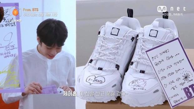 Thí sinh Việt Nam lọt top 12 I-LAND, may mắn sở hữu đôi giày có chữ ký tay của j-hope (BTS) - Ảnh 6.