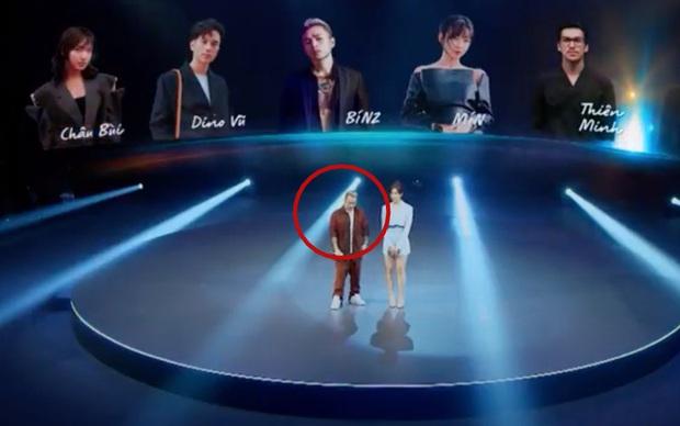 Phản ứng của Binz khi Min nhắc tên bạn gái tin đồn Châu Bùi trên sân khấu sự kiện trực tiếp - Ảnh 3.