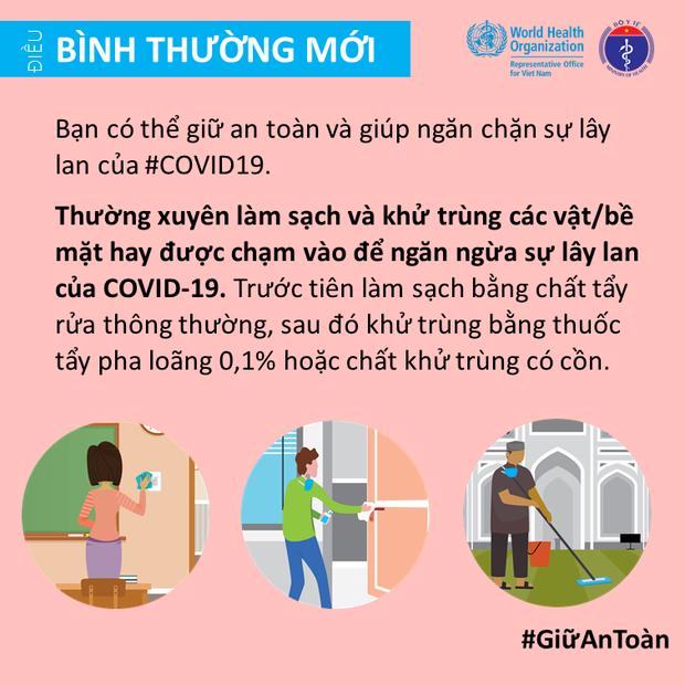 Bộ Y tế và Văn phòng WHO tại Việt Nam nhấn mạnh một vài điểm cần lưu ý để giảm thiểu nguy cơ lây nhiễm COVID-19 cho mỗi người - Ảnh 10.