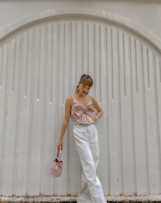 Street style tràn ngập tông màu mùa thu của sao và hot girl Việt: Toàn outfit xinh xắn sành điệu nhưng cực dễ bắt chước  - Ảnh 13.