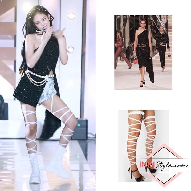 Đụng độ Jennie, nàng Cố Giai đơn giản mà sang hết sức, nhưng nhìn xuống đôi chân mới choáng váng - Ảnh 7.