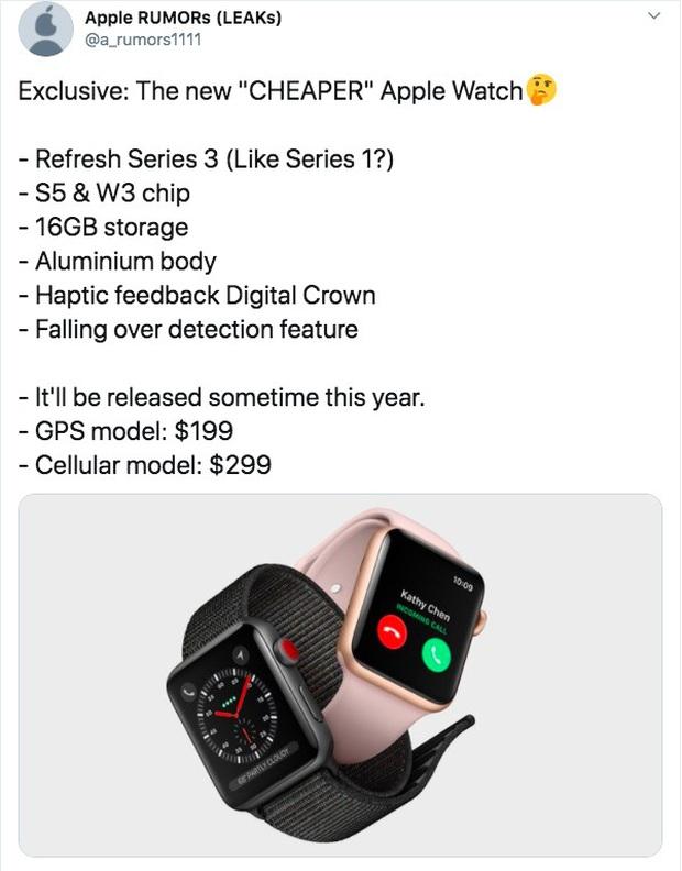 Apple có thể sẽ ra mắt mẫu Apple Watch giá rẻ với mức giá 4,5 triệu đồng trong năm nay - Ảnh 1.