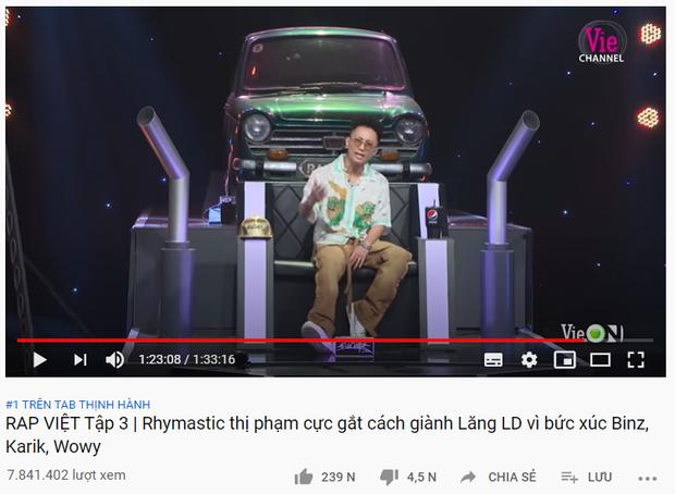 Rap Việt lập cú hattrick khi tập 3 vừa lên sóng đã giành ngay top 1 trending YouTube - Ảnh 2.
