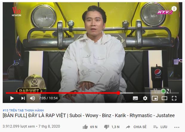 Rap Việt lập cú hattrick khi tập 3 vừa lên sóng đã giành ngay top 1 trending YouTube - Ảnh 5.